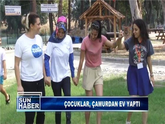 Video Haber: Çocuklar, Çamurdan Ev Yaptı