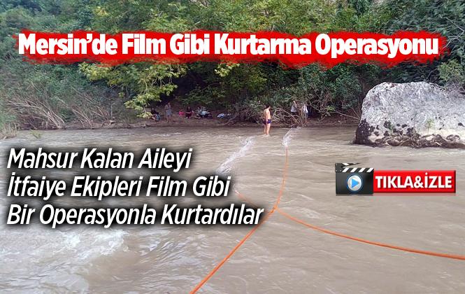 Mersin Tarsus Keşbükü Kanyonuna Pikniğe Giden Aile Irmağın Karşı Tarafında Mahsur Kaldı