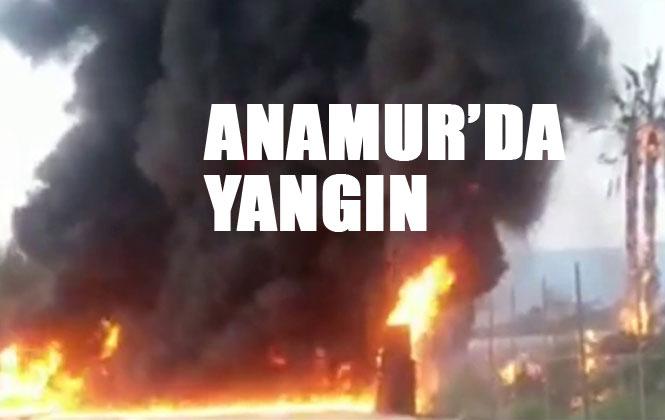 Mersin Anamur'da, Anamur Çilek Sandığı Yangını