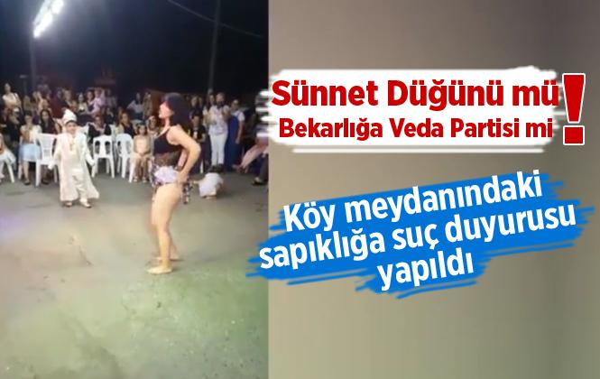 Sünnet düğünündeki erotik dansa suç duyurusu! Sünnet Düğününde oynayan kadın!