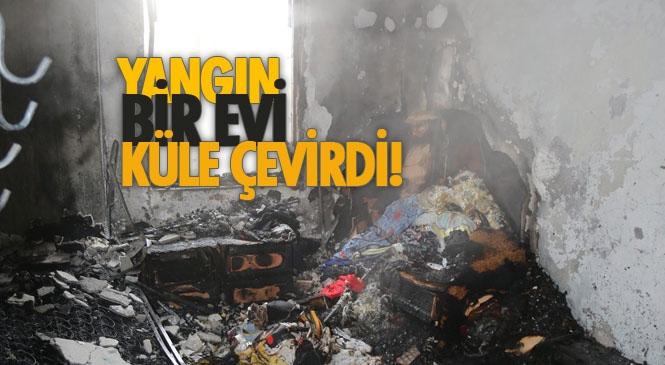 Mersin'de 7 Katlı Apartmanın 5.Katında Yangın Çıktı