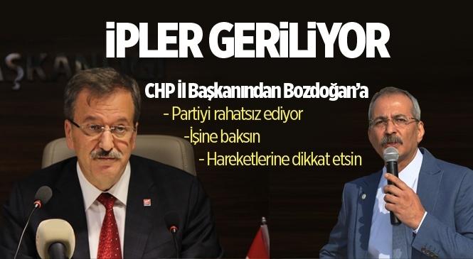 "CHP Mersin İl Başkanı Adil Aktay: ""Haluk Bozdoğan İşine Baksın"""