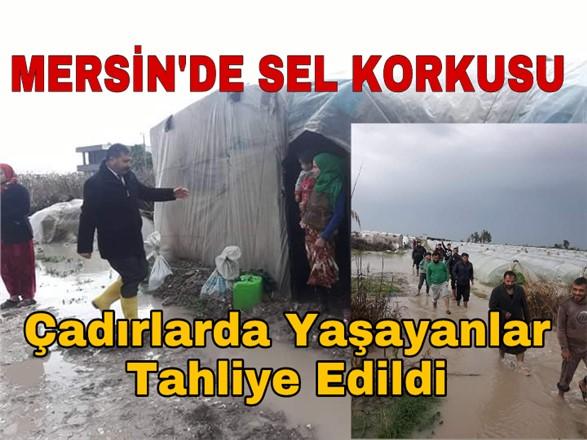 Mersin'de Sel Tehlikesi