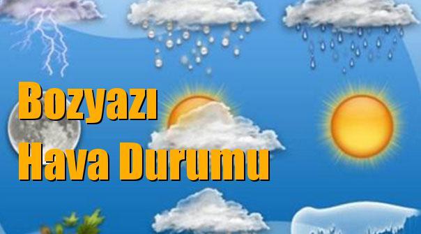 Bozyazı Hava Durumu; 10 Ocak Çarşamba, 11 Ocak Perşembe, 12 Ocak Cuma, 13 Ocak Cumartesi tahminler