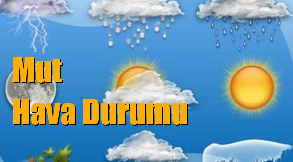 Mut Hava Durumu; 10 Ocak Çarşamba, 11 Ocak Perşembe, 12 Ocak Cuma, 13 Ocak Cumartesi tahminler