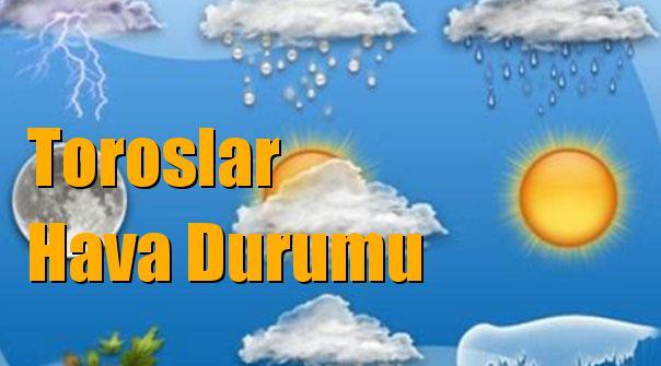 Toroslar Hava Durumu; 10 Ocak Çarşamba, 11 Ocak Perşembe, 12 Ocak Cuma, 13 Ocak Cumartesi tahminler
