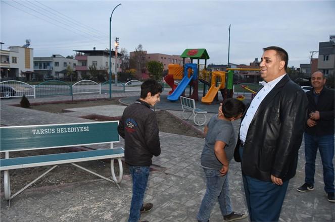 Park ve Bahçeler Müdürlüğü Tarsus'u Güzelleştirmeye Devam Ediyor