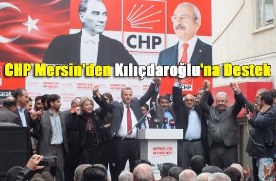 CHP Mersin'den Kılıçdaroğlu'na Destek