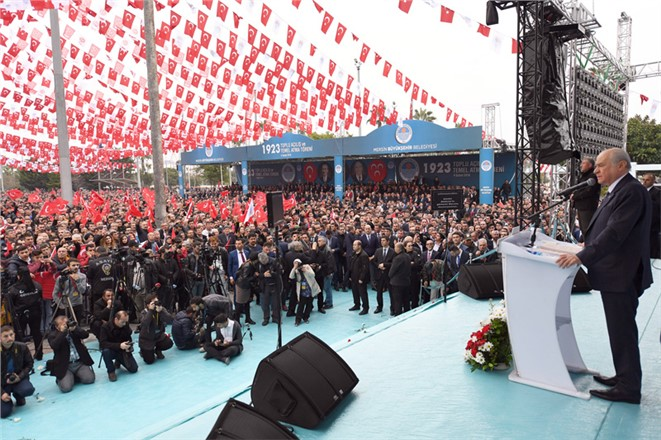 Genel Başkan Devlet Bahçeli Mersin'e Geldi