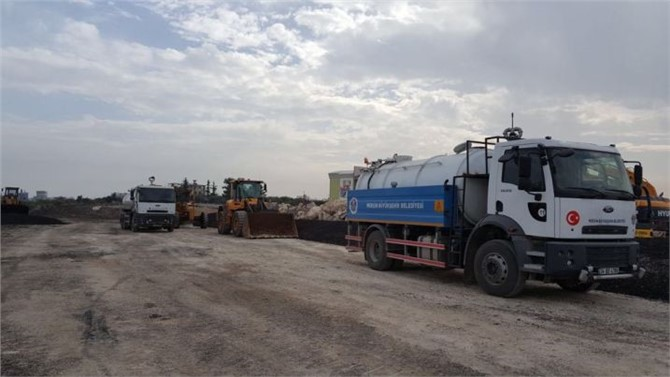 Mersin Büyükşehir'in Aldığı Yeni Araçlar Hizmete Başladı