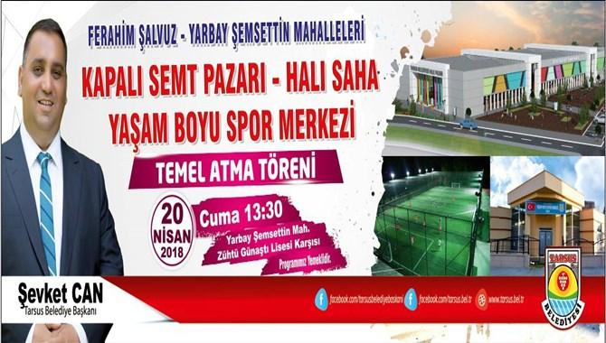 Tarsus Belediyesi İlçenin Her Yanını Tesisle Donatıyor