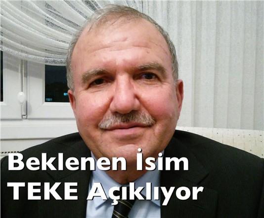 Beklenen İsim Mehmet Teke AK Parti'den Adaylığını Açıklıyor