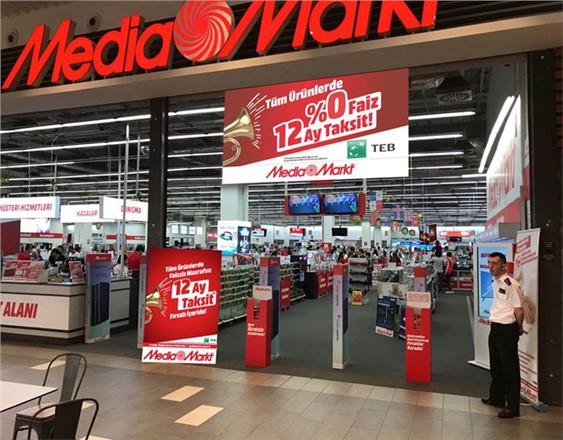 MediaMarkt'ta Tüm Ürünlerde Teb'den % 0 Faiz ve 12 Ay Taksit!