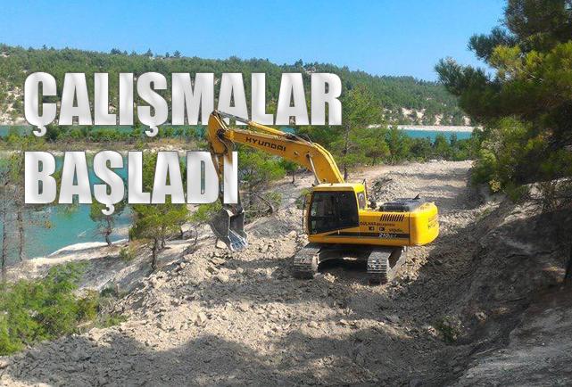Gülnar Yassıbağ Göleti Çevresi Yürüyüş Yolu Çalışmaları Başladı