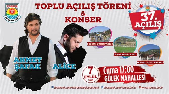 """""""Her Hafta Bir Açılış"""" Yapacak Olan Tarsus Belediyesi 37'nci Açılışını Gülek Mahallesi'nde"""