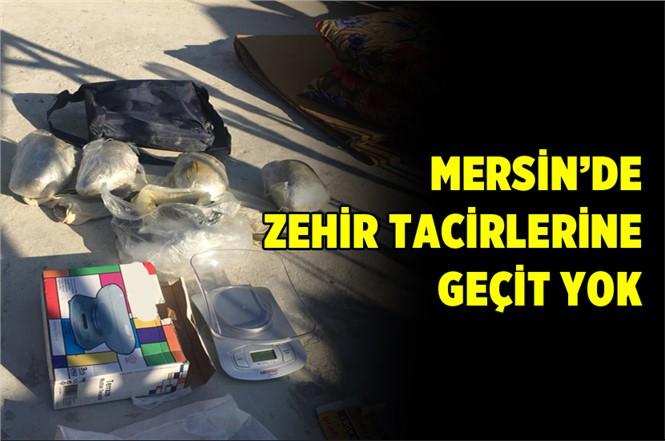 Mersin Polisinden Zehir Tacirlerine Operasyon
