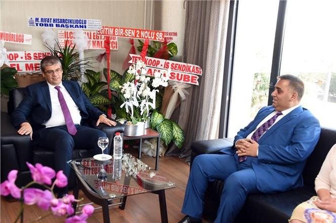 Başkan Can'dan, Rektör Aydın'a Ziyaret