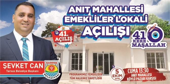 Emekliler Lokali 5 Ekim Cuma Günü Açılıyo, Tarsus Belediyesi, Emeklilere İkinci Baharını Yaşatacak
