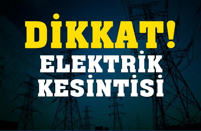 Mersin Elektrik Kesintisi !10.10.2018 Elektrik Kesintisi