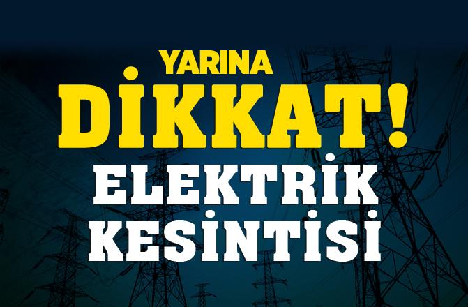 Mersin'de Yarın (17.10.2018) Günü Elektrik Kesintisi