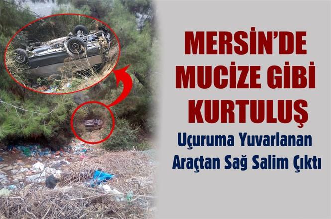 Mersin'de Trafik Kazasında Mucize Kurtuluş