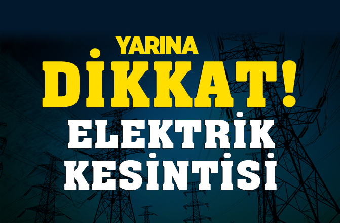 Mersin'de Yarın Elektrik Kesintisi.. 23/10/2018'de Elektrikler Yok