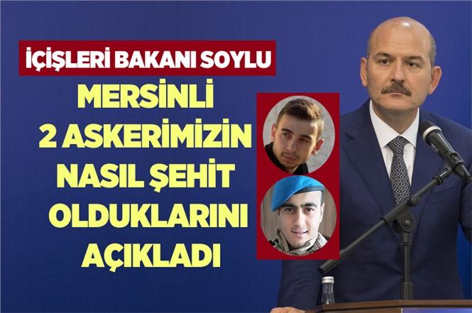 Bakan Süleyman Soylu'dan Donarak Şehit Olan Mersinli 2 Asker Hakkında Açıklama