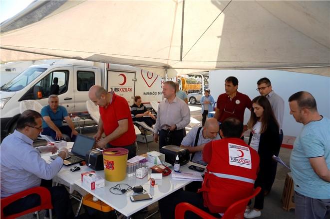 MESKİ Çalışanları Kan Bağışında Bulundu
