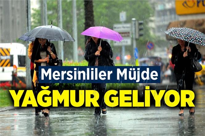 Mersin'de Bu Geceden İtibaren Yağmur Yağacak