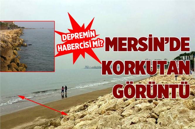 Mersin'de Deniz Suyunun Çekilmesi Vatandaşları Endişelendirdi