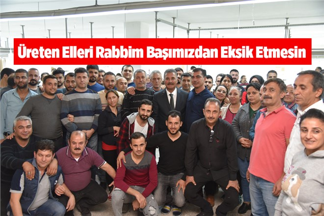 MHP Mersin Büyükşehir Belediye Başkan Adayı Hamit Tuna, Tekstil Çalışanlarıyla Buluştu