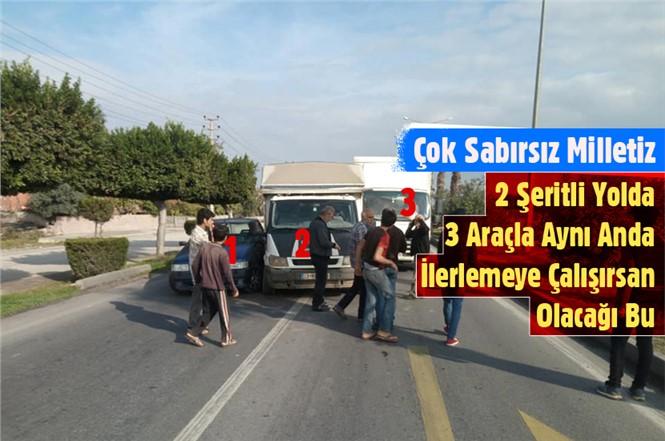 Mersin Tarsus D-400 Yolunda Zincirleme Kaza
