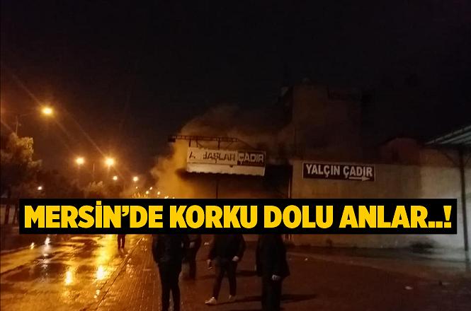 Mersin Akdeniz ilçesinde Şemşettin Akbaş'a Ait İş Yerinde Yangın Çıktı