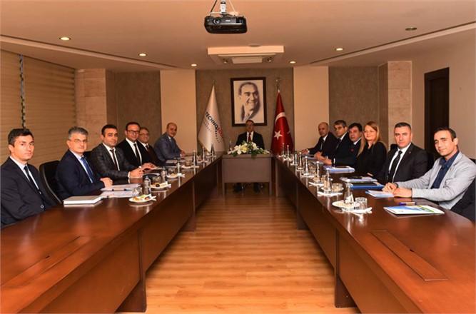 Mersin Teknopark Yönetim Kurulu Toplantısı Vali Ali İhsan Su Başkanlığında Gerçekleştirild..