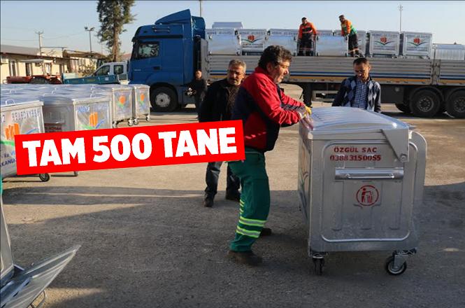 Akdeniz Belediyesi 500 Konteynır Daha Aldı
