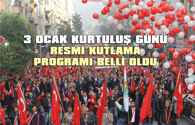 3 Ocak Mersin'in Düşman İşgalinden Kurtuluşunun 97. YılıKutlama Programı