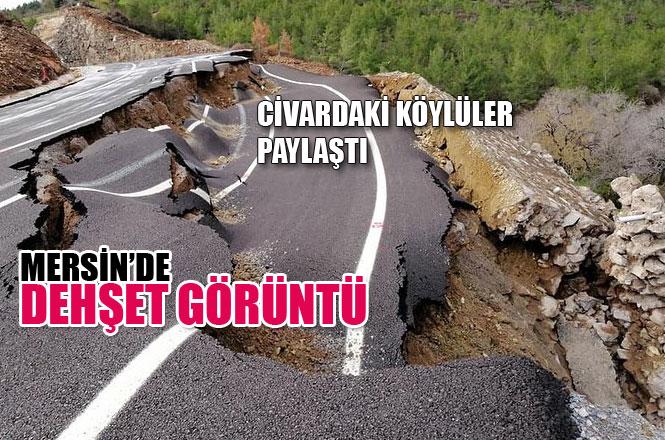 Mersin Anamur'da Yeni Yapılmış Tali Yol Çöktü, Durumu Köylüler Paylaştı