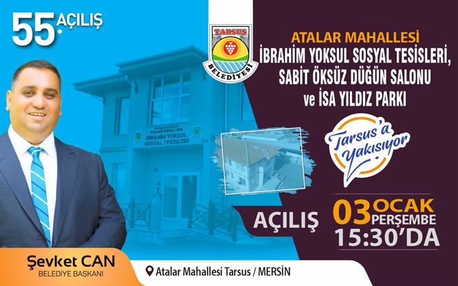 Tarsus Atalar Mahallesinde Sosyal Tesis, Düğün Salonu Ve Park Açılışı Gerçekleşecek