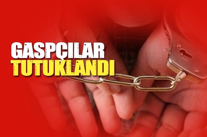 Mersin Tarsus'ta Motosikletle Gasp Yapan Şahıslar Çıkarıldıkları Mahkemece Tutuklandı