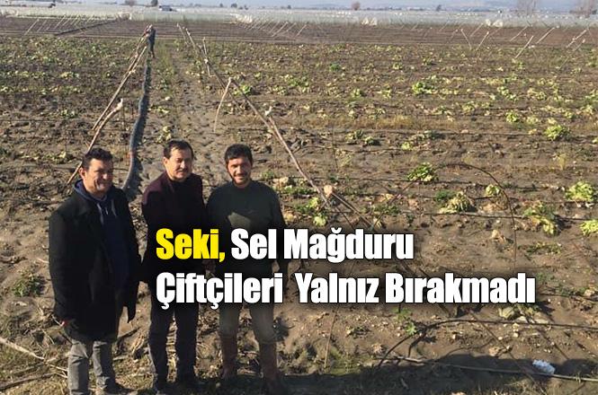 Tarsus Ziraat Odası Başkan Adayı Abdullah Seki, Selden Zarar Gören Tarsuslu Çiftçileri Yalnız Bırakmadı