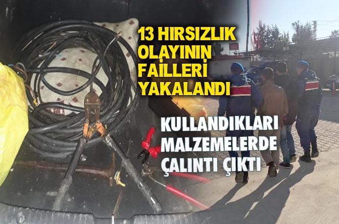 Mersin'de Baz İstasyonu ve Trafolardan Hırsızlık Yapan Şahıslar Jandarmaya Yakalandı
