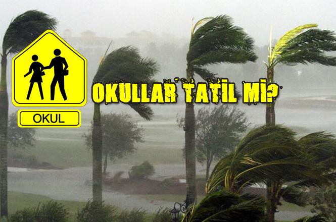 Mersin'de Okullar Tatil Mi? 6 Şubat Çarşamba Günü Fırtına ve Kuvvetli Yağış Bekleniyor