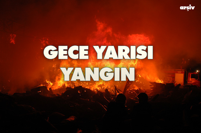 Mersin Tarsus Yenice'deki Bir Narenciye Fabrikasında Gece Yarısı Yangın Çıktı