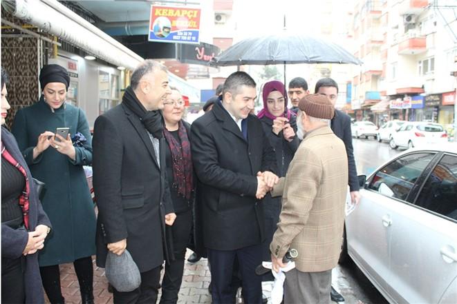 Cumhur İttifakı Yenişehir Adayı Bekir Topçu Durmak Bilmiyor