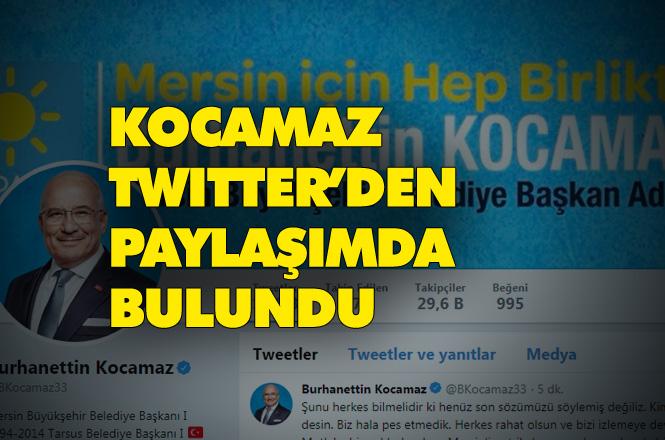 Burhanettin Kocamaz Twitter Üzerinden Açıklama Yaptı