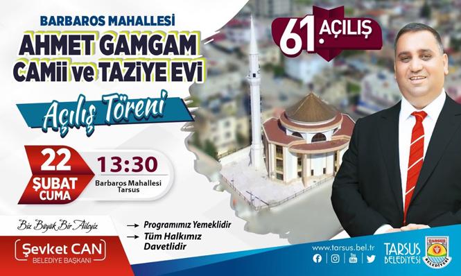 Barbaros Mahallesi Ahmet Gamgam Camii ve Taziye Evi İbadete Açılıyor