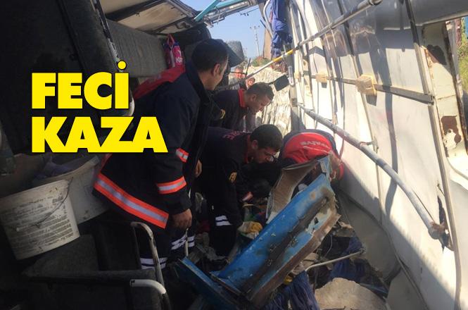 Atayurt'ta Kaza, Mersin'de Feci Kaza, Tarım İşçilerini Taşıyan Minibüs 5 Ölü, 22 Yaralı