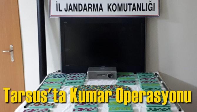 Mersin Tarsus Yenice Mahallesindeki Sendika Binasına Kumar Operasyonu