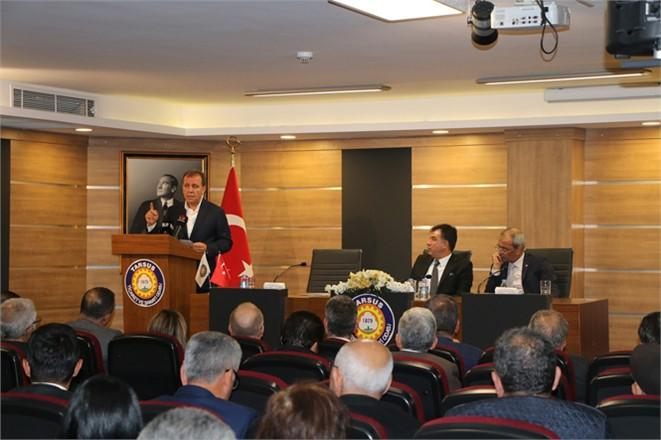 CHP Mersin ve Tarsus Belediye Başkan Adayları TSO Yönetici ve Üyeleriyle Buluştu