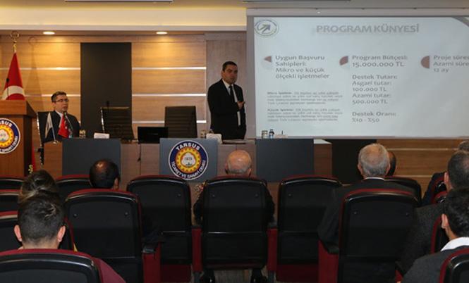 ÇKA Bilgilendirme Toplantısı Tarsus Ticaret ve Sanayi Odasında Yapıldı